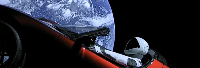 A Tesla in space: Is there method in the madness?